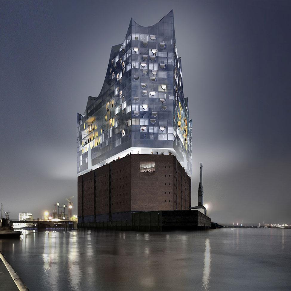 stadtfuehrung hamburg architektur HafenCity Elbphilharmonie zeigt einen Querschnitt über die aktuelle Entwicklung der Architektur in Hamburg Architektour