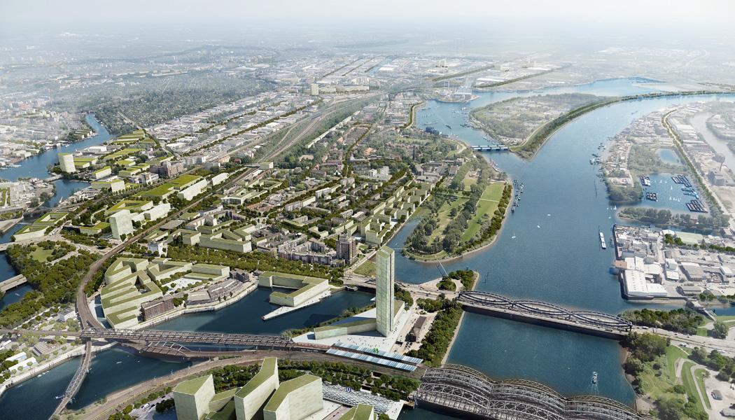 stadtfuehrung hamburg architektur Stromaufwärts an Elbe und Bille
