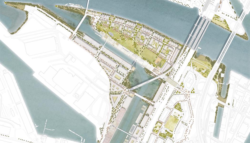 Herzog & de Meuron gewinnen städtebaulichen Wettbewerb für neuen Stadtteil Grasbrook zusammen mit Vogt Landschaftsarchitekten