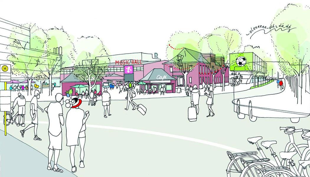Framework plan for the Quartier am Diebsteich